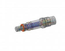 3D модель клапана предохранительного