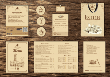 Фирменный стиль ресторана bona