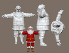 лоупольная модель, Санта