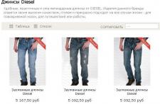 Описания для каталога одежды (джинсы)
