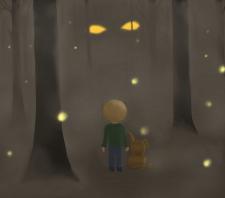 Хлопчик в лісі