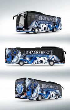 Дизайн автобуса футбольной команды