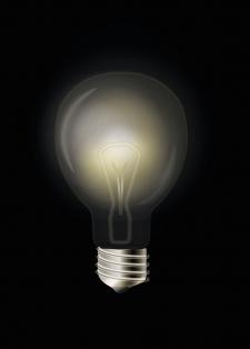 лампа в векторе