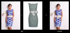Замена пояса на платье и изминение цвета