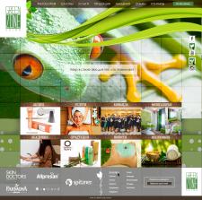 Дизайн сайта для Green Zone Salon