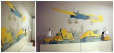 Художественная роспись стны в спальни