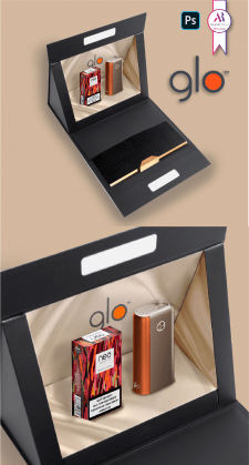 Визуализация упаковки для glo