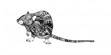 Малюнок щура в стилі бохо