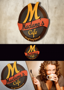 "Дизайн логотипа для fast food ""Maclane's Cafe"""