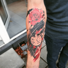 Тату перекрытие tattoo coverup