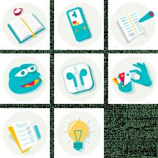 Иконки для образовательного проекта по ЗНО