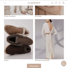 Интернет магазин Shopify - 12storeez