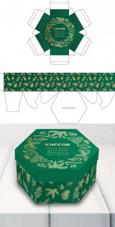 Дизайн новогодней коробки для подарков