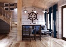 Відпочинкова кімната  сауни у морській тематиці