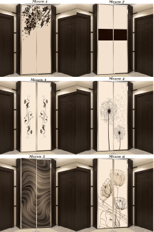Дизайн файлов для печати на шкафах купе