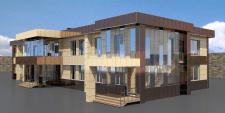 Офисное здание, фасадные системы