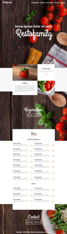 Сайт ресторан SELL ДИЗАЙН + ВЕРСТКА(HTML / CSS)