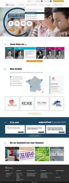 Сайт для сервиса подбора школ менеджмента (FR)