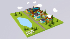 3D Low Poly Town