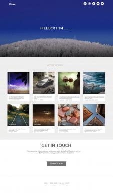Дизайн сайта фотографа, 1-я страница