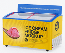 Ice Cream Fridge Mockup