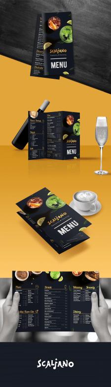 """Разработка меню для кафе """"Scaljano"""""""