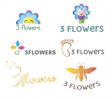 Логотип для 3 Flowers