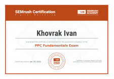 SEMrush PPC Fundamentals Certification