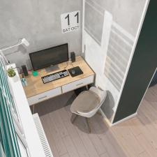 Дизайн-проект квартиры 50 м2. Кабинет