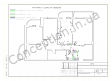 План монтажа и устройства  перегородок