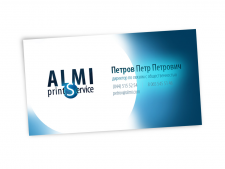 Альтернативная визитка для Almi Print Service