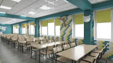 Дизайн школьной столовой
