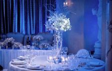 Свадьба в синем с серебром