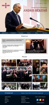 Редизайн сайта президента Латвии