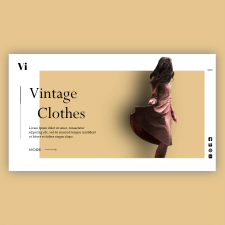 Web design | Landing [Vintage Clothes]