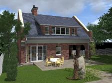 реконструкция дачного дома с надстройкой мансарды