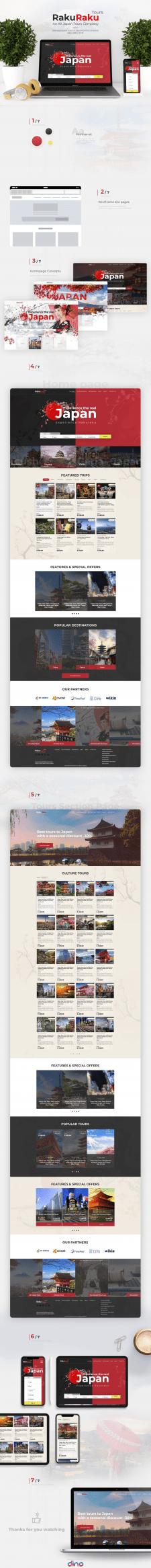 Дизайн сервиса - туры в Японии