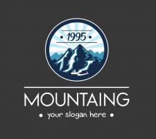 Логотип с горами
