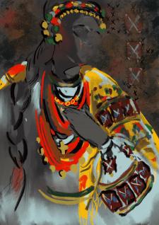 Иллюстрация на этно тему