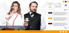 Сайт развлекательной компании MusicTakein