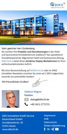 Дизайн и верстка письма для немецкой фирмы DIKS24