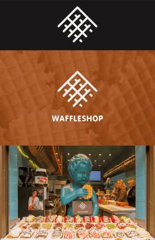 Логотип для магазина вафель