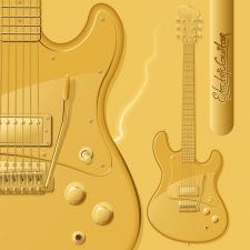 Золотая электрогитара