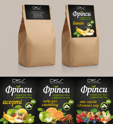 Этикетки-ярлыки для фруктовых фрипсов