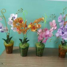 Орхидея Фаленопсис из фома на 2 ветки