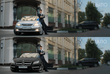 Коллаж «Замена авто»
