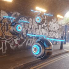 Futuristic drone