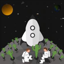 Plants on the moon