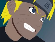 Иллюстрация персонажа Наруто в векторе