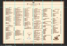 Макет меню для ресторана